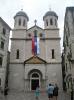 Православная церковь в Которе. На церкви висит флаг Сербии потому, что черногорская церковь подчиняется сербской патриархии.